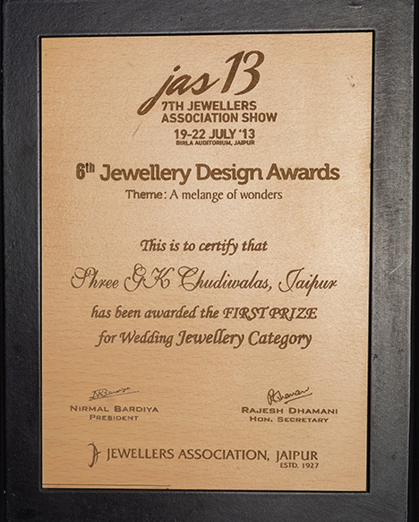 First Prize in Jewellery Design Award JAS 2013
